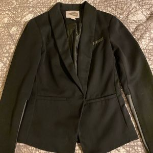 Cool faux leather blazer